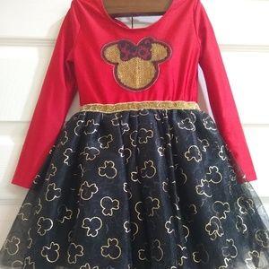 Disney Minnie mouse dress girl 4t